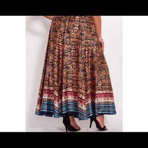 Long maxi slik skirt